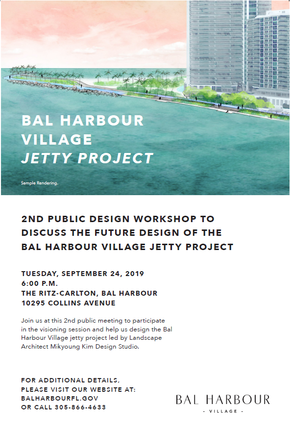 2nd Public Design Workshop For The Bal Harbour Jetty Project